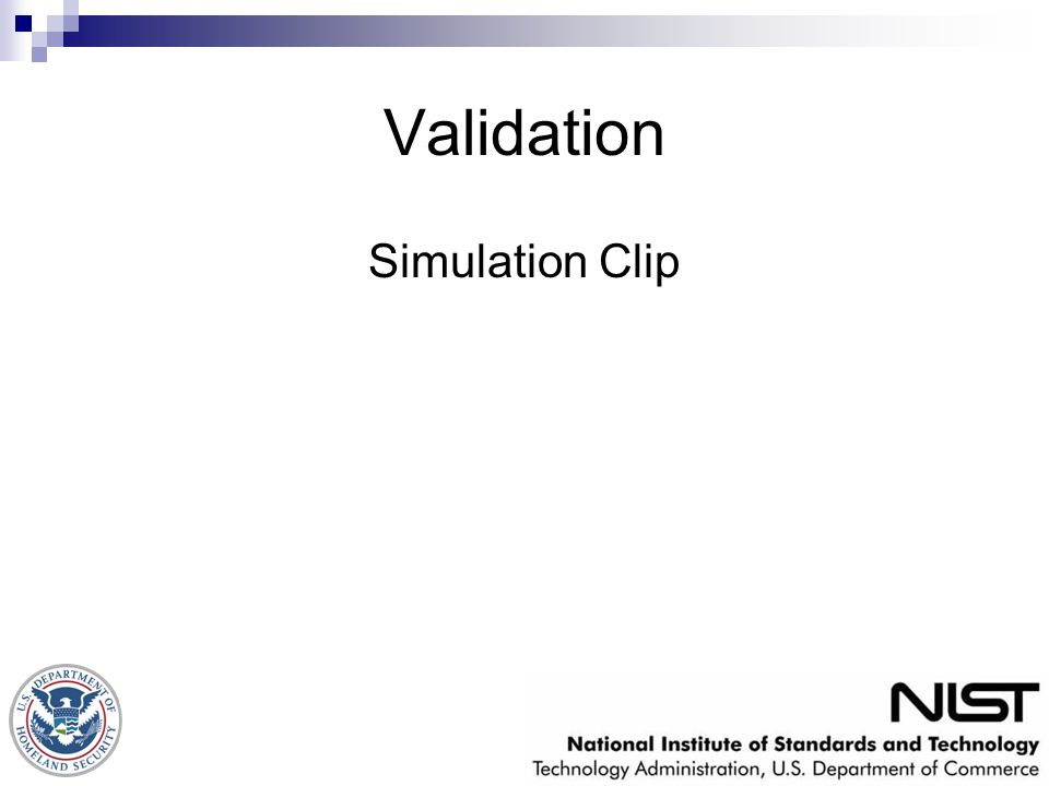 Validation Simulation Clip