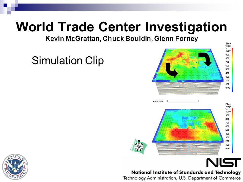 World Trade Center Investigation Kevin McGrattan, Chuck Bouldin, Glenn Forney Simulation Clip