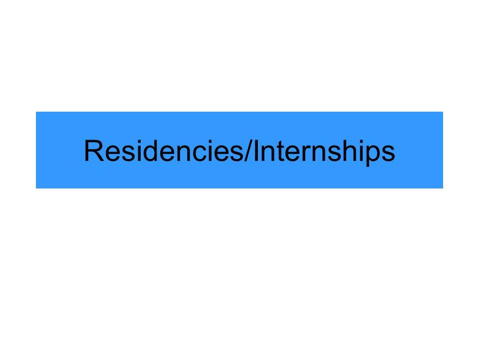 Residencies/Internships