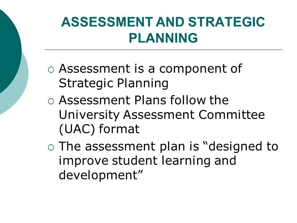 Assessment Plan Components 1.