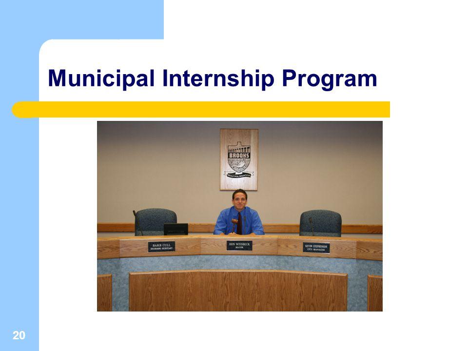 20 Municipal Internship Program