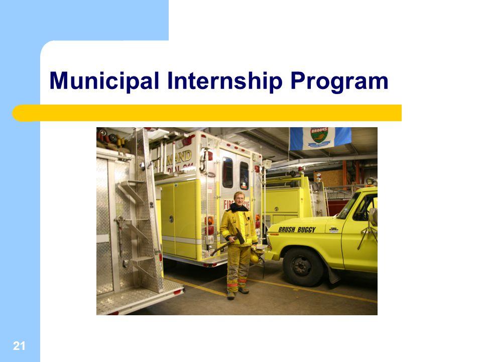 21 Municipal Internship Program