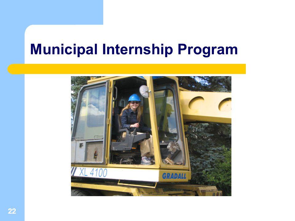 22 Municipal Internship Program