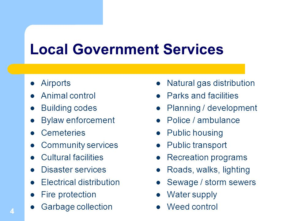 5 Local Government: True or False.1.