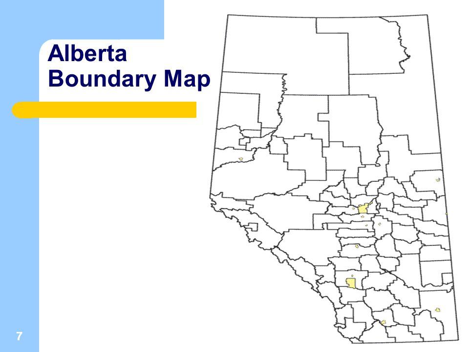 7 Alberta Boundary Map