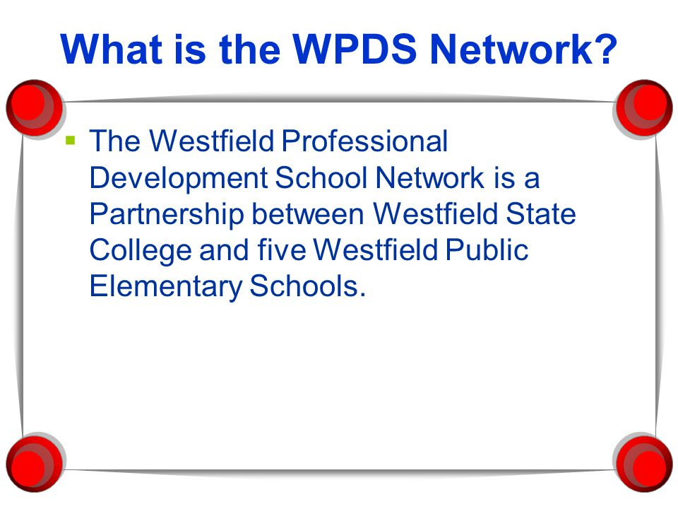 What is the WPDS Network.
