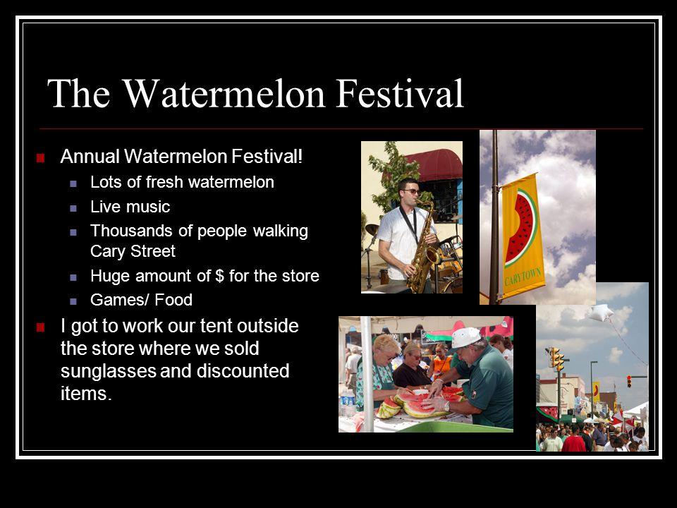 The Watermelon Festival Annual Watermelon Festival.