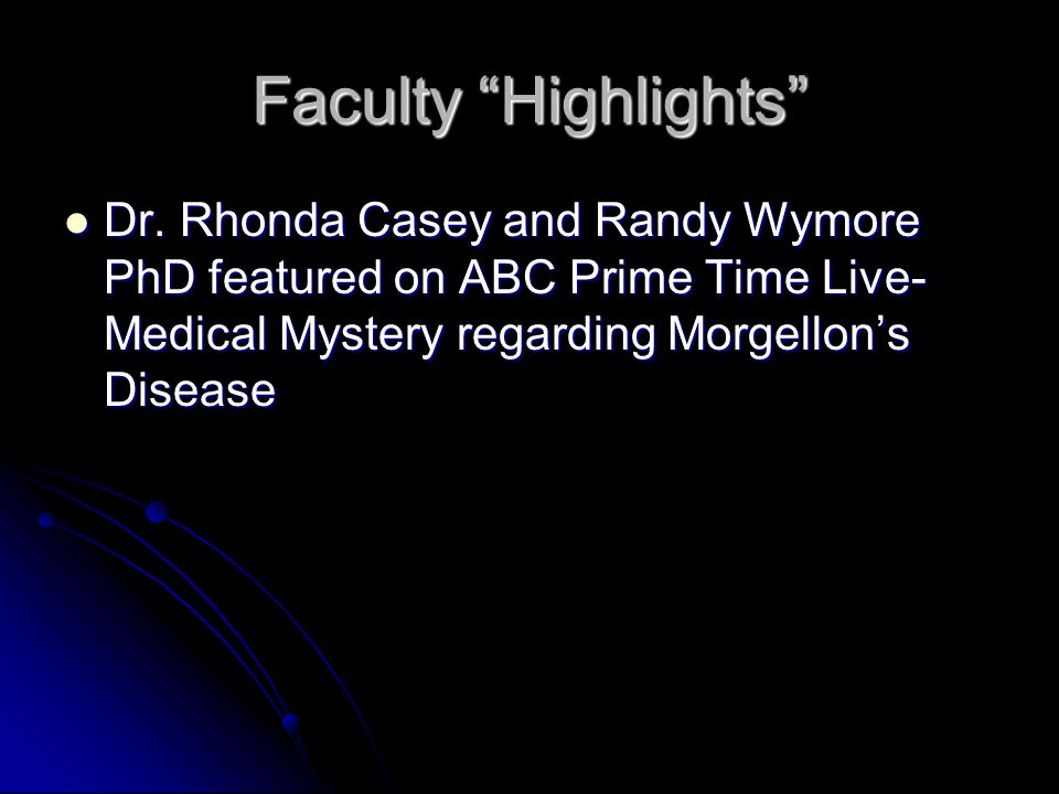 Faculty Highlights Dr.