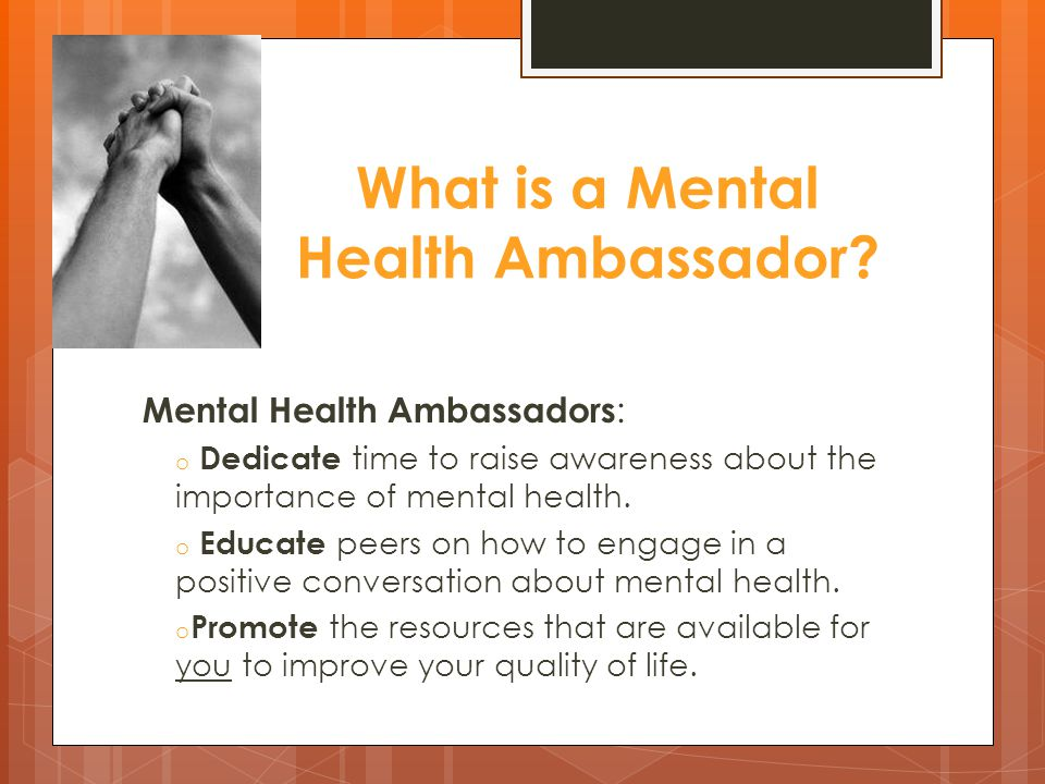 What is a Mental Health Ambassador.