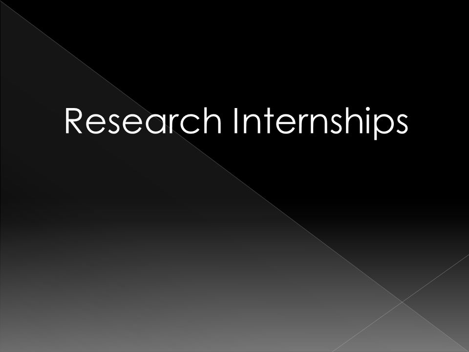 Research Internships