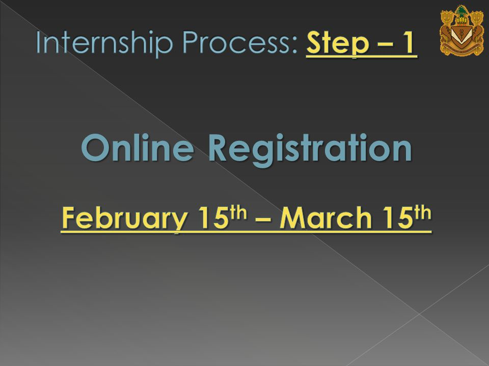 To register online : (Student Services Office will send Imail to all) 1.