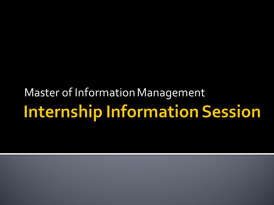 Master of Information Management