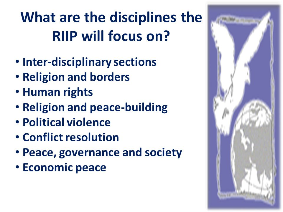 What are the disciplines the RIIP will focus on.