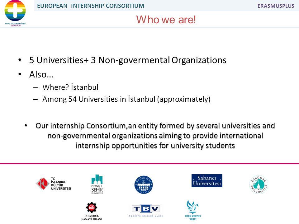 EUROPEAN INTERNSHIP CONSORTIUM ERASMUSPLUS Who we are.