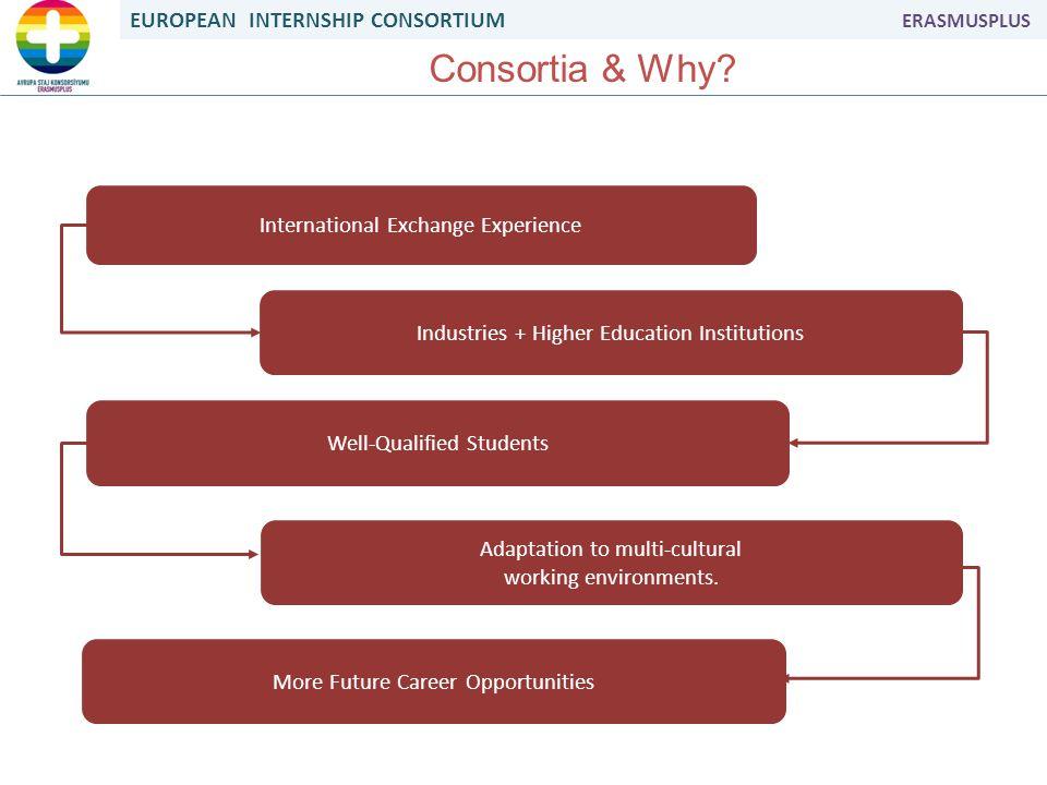 EUROPEAN INTERNSHIP CONSORTIUM ERASMUSPLUS Consortia & Why.