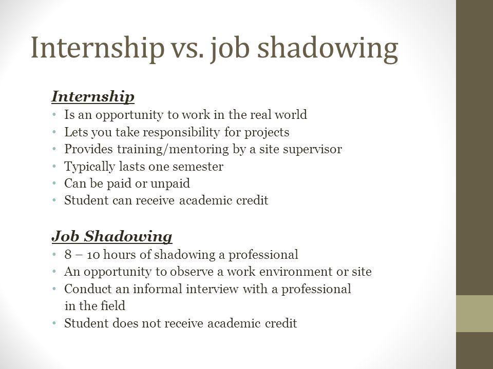 Internship vs.
