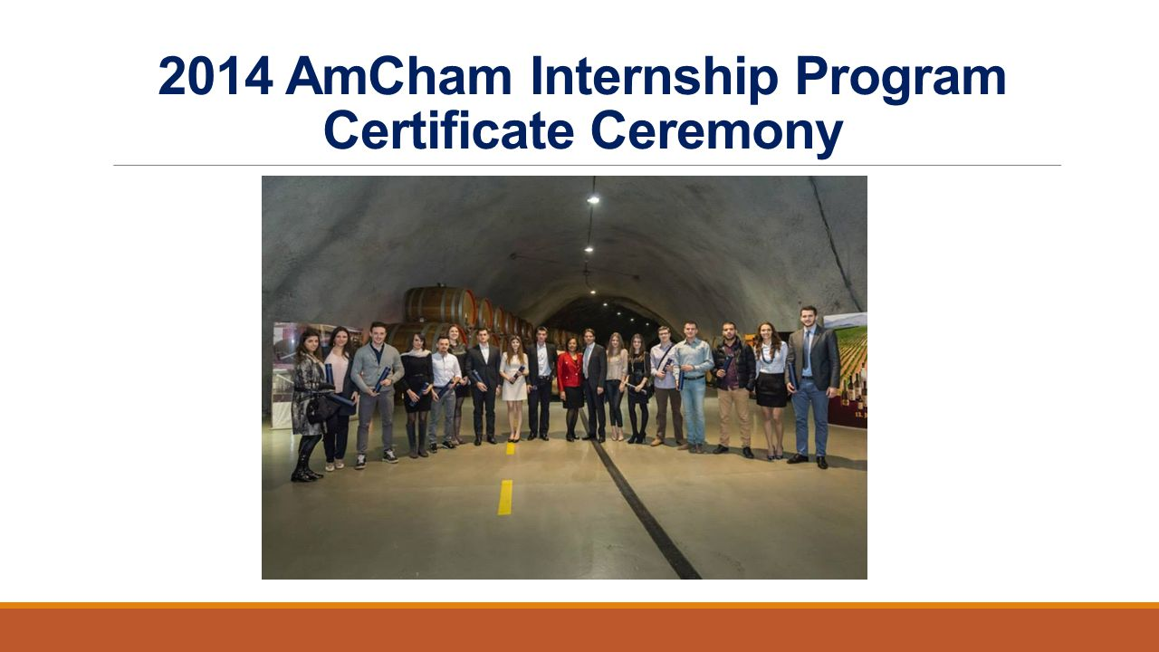 2014 AmCham Internship Program Certificate Ceremony
