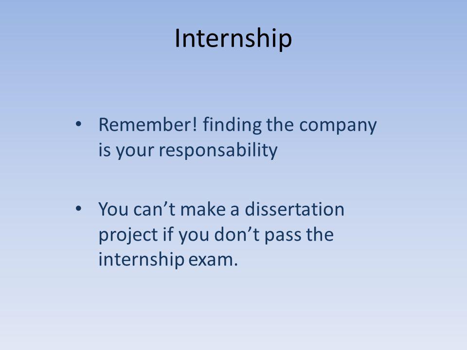 Internship Remember.