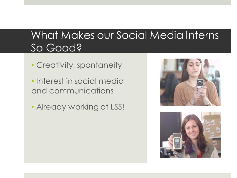 What makes our internship work.