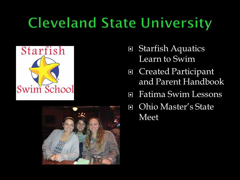  Starfish Aquatics Learn to Swim  Created Participant and Parent Handbook  Fatima Swim Lessons  Ohio Master's State Meet