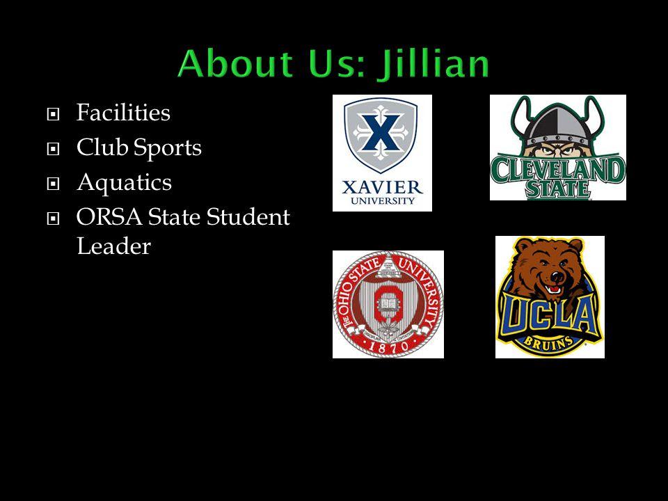  Facilities  Club Sports  Aquatics  ORSA State Student Leader