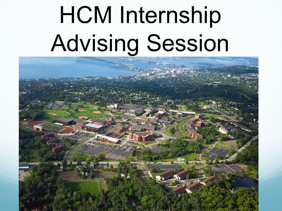 HCM Internship Advising Session