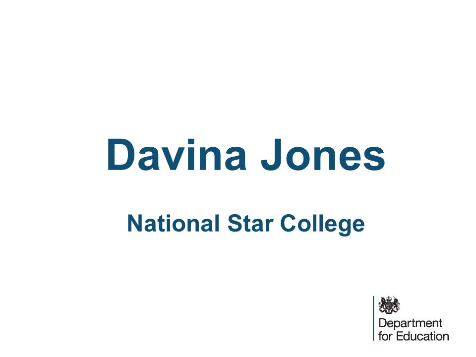 Davina Jones National Star College
