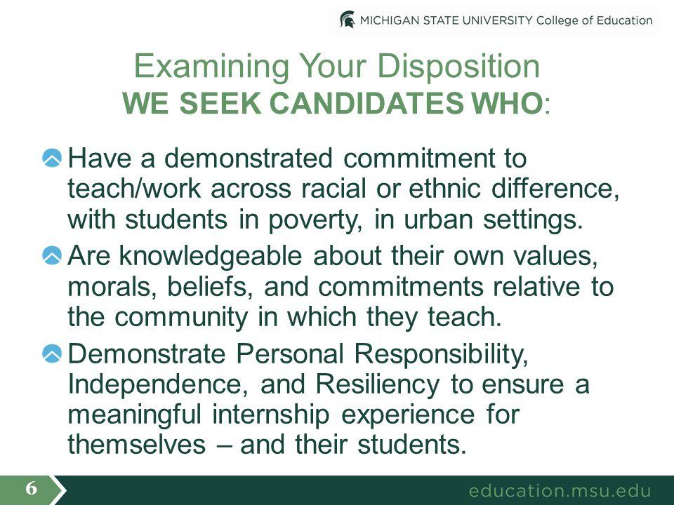Selection Criteria/Considerations Successful progression to internship review.