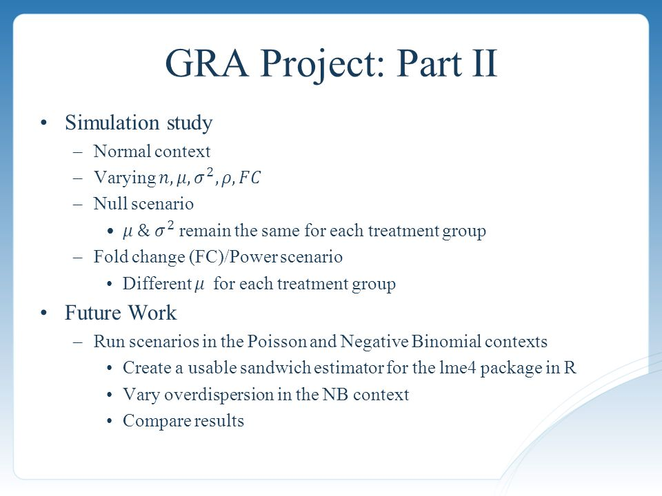 GRA Project: Part II