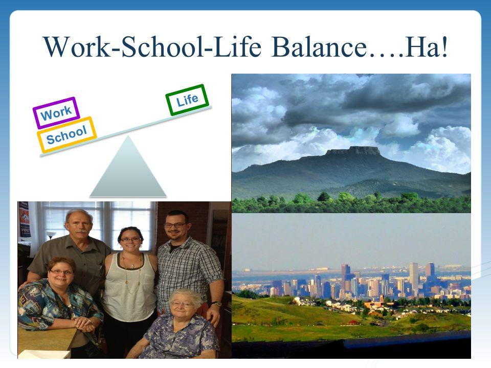 Work-School-Life Balance….Ha! Work School Life