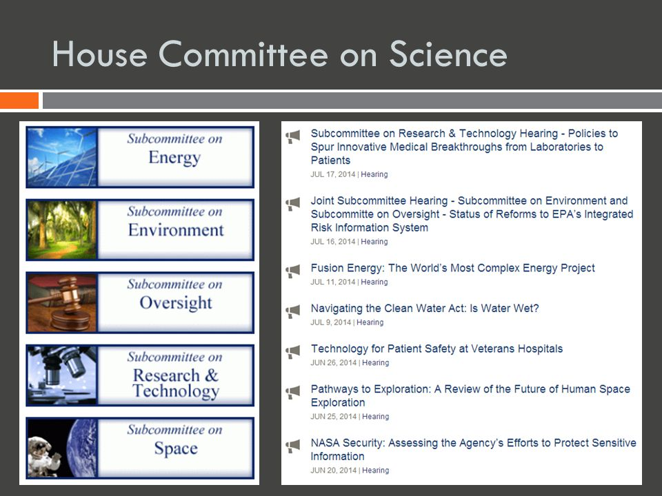House Committee on Science