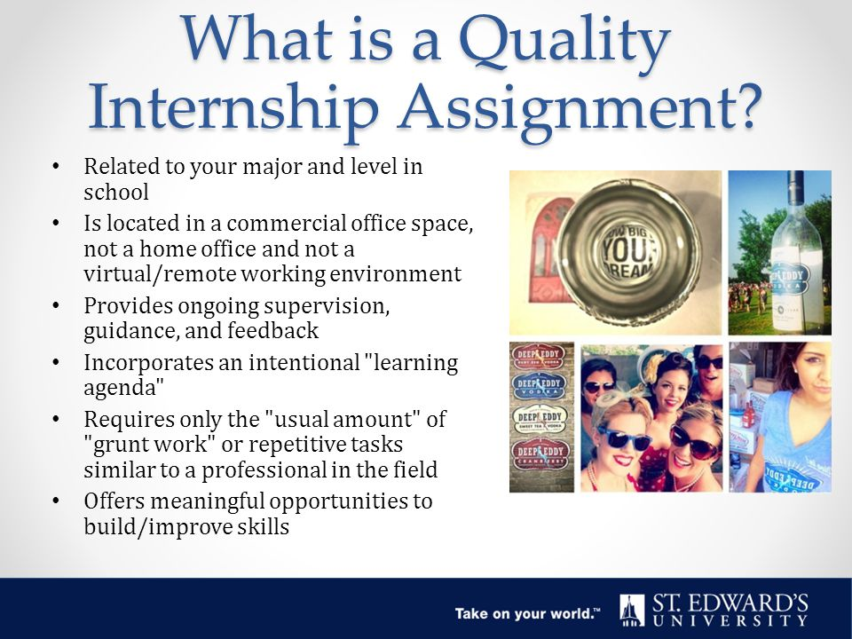 What is a Quality Internship Assignment.