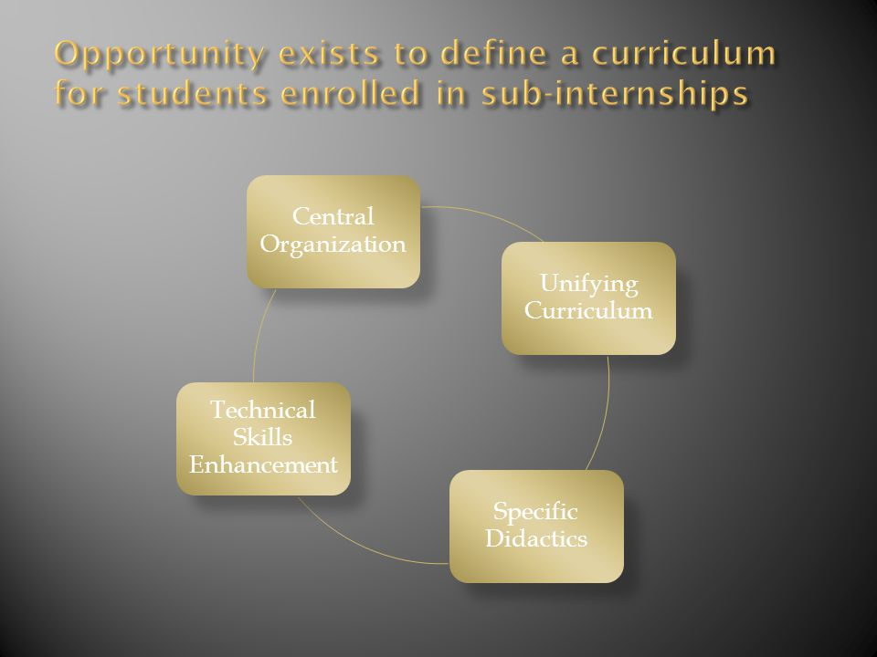 Central Organization Unifying Curriculum Specific Didactics Technical Skills Enhancement