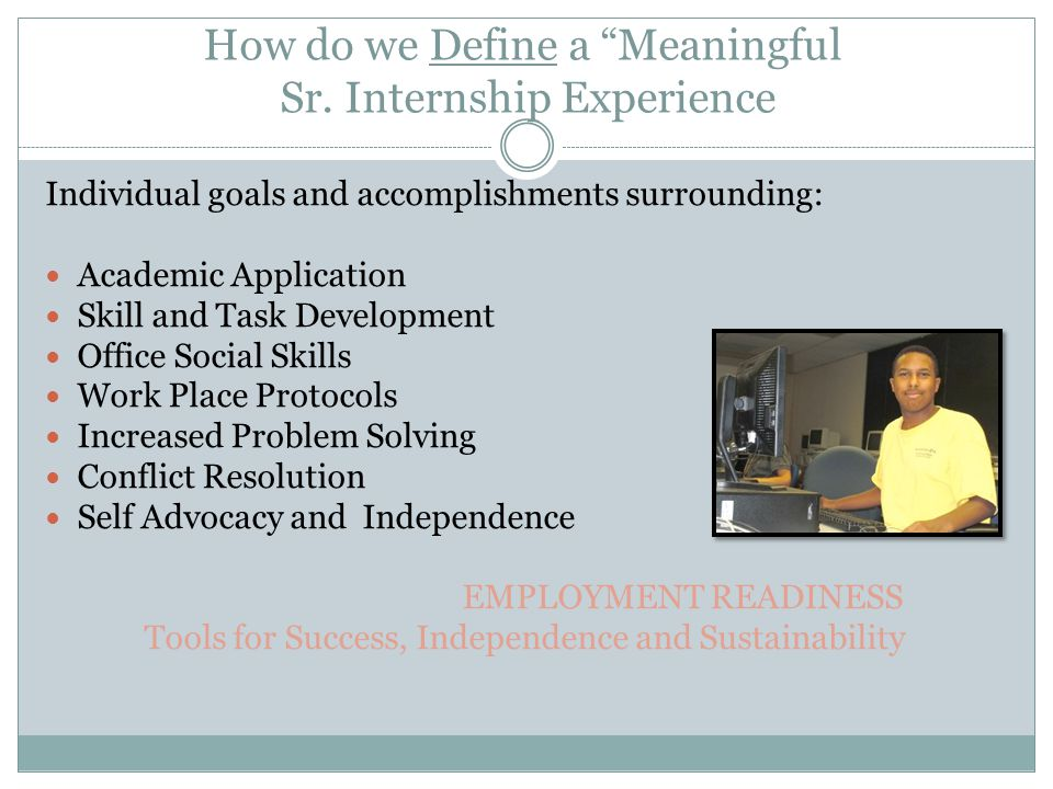 How do we Define a Meaningful Sr.