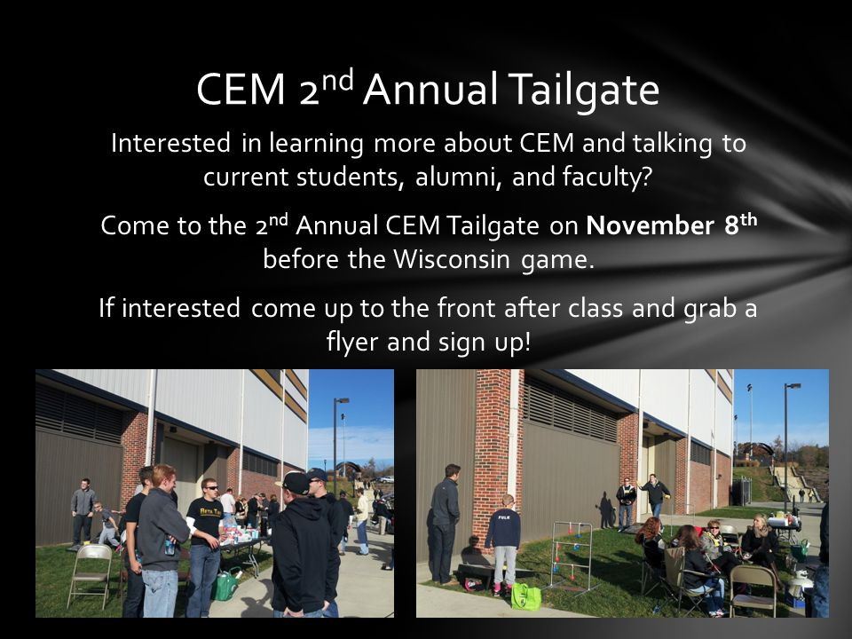 Interested in learning more about CEM and talking to current students, alumni, and faculty.