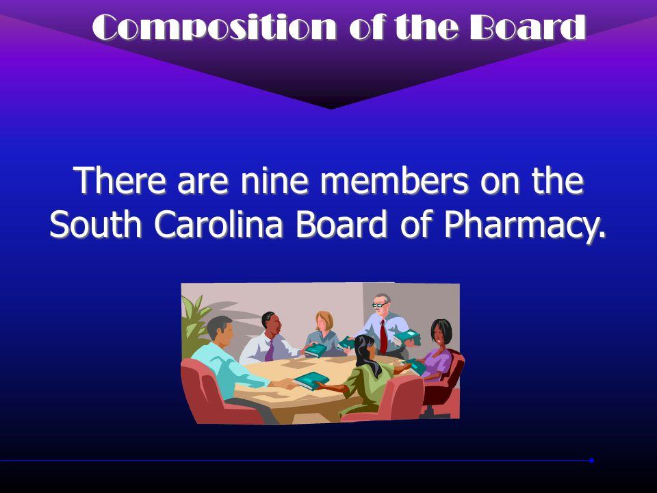 SC Board of Pharmacy Established in 1876 Established in 1876 Currently licenses 7500+ pharmacists Currently licenses 7500+ pharmacists Currently permits 4500+ pharmacies and drug outlets Currently permits 4500+ pharmacies and drug outlets