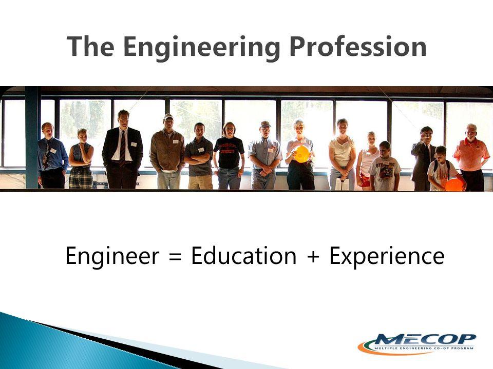 Engineer = Education + Experience