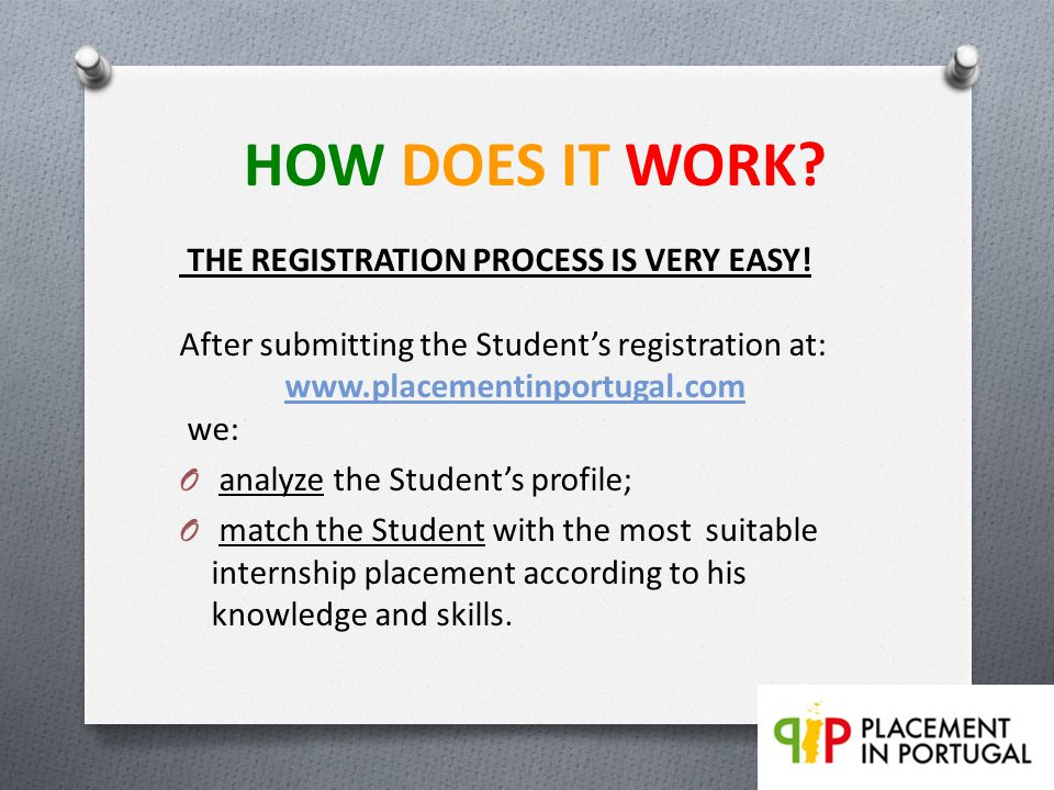 HOW DOES IT WORK.THE REGISTRATION PROCESS IS VERY EASY.
