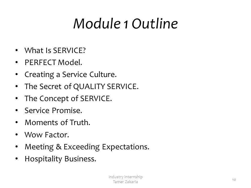 Module 1 Service Culture 9 Industry Internship Tamer Zakaria