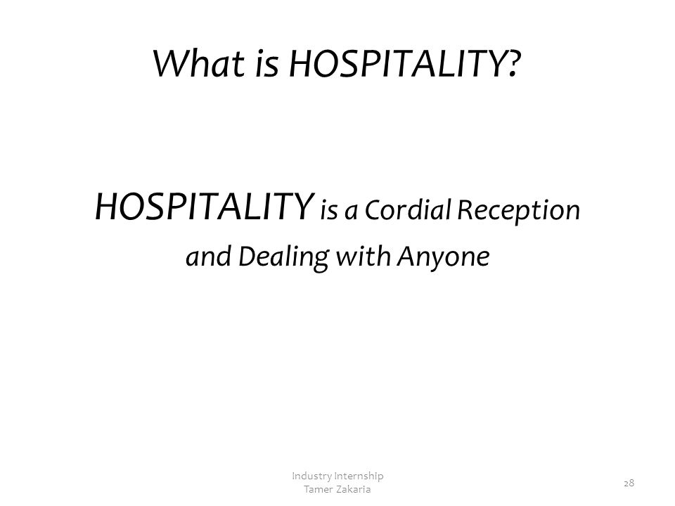Module 2 Outline What is HOSPITALITY. Guests: What Do They Want.
