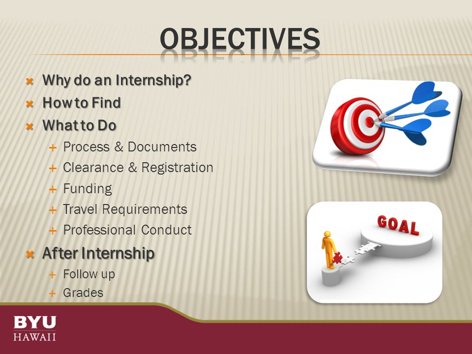  Why do an Internship.