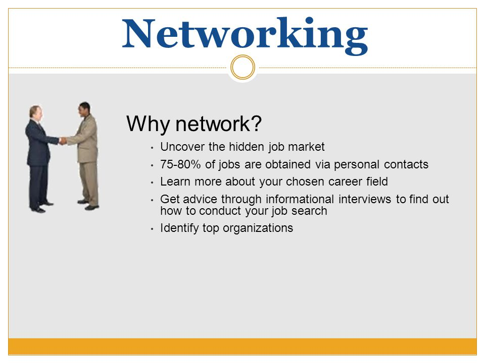Networking Why network.