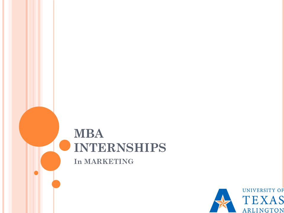 MBA INTERNSHIPS In MARKETING