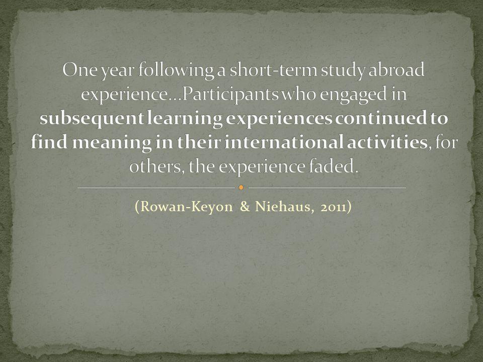 (Rowan-Keyon & Niehaus, 2011)