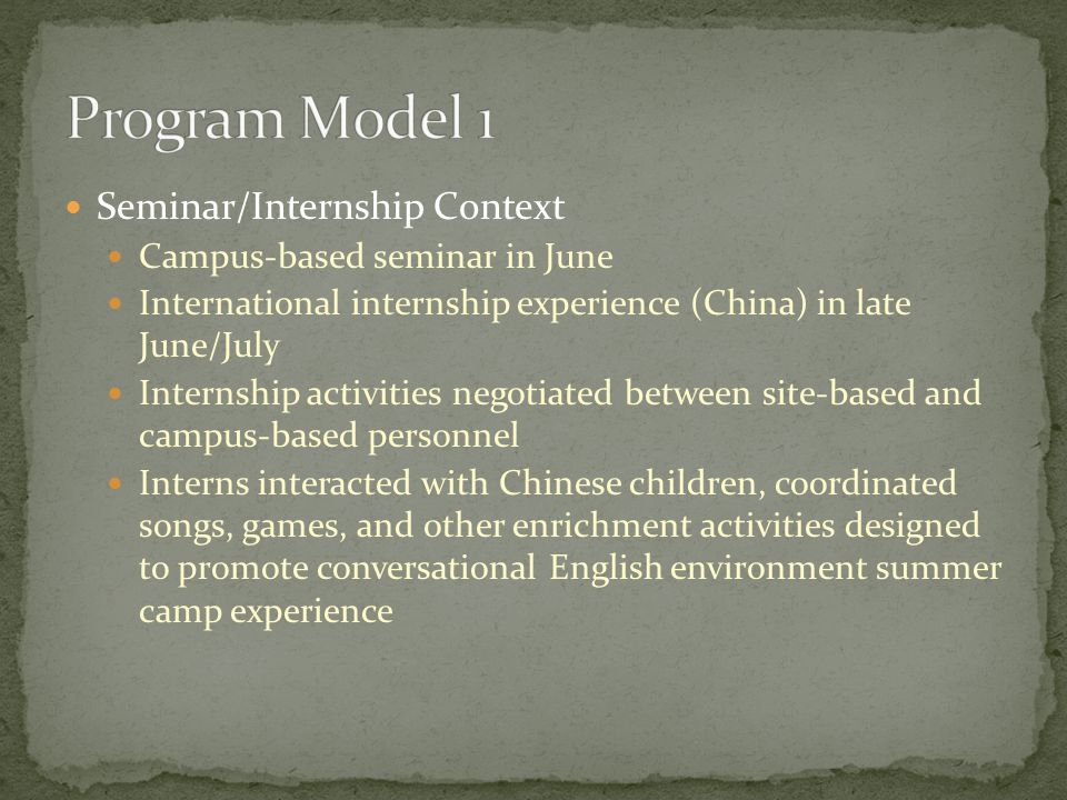 Interviews: Significant Program Features/Variations Across Contexts Pre-departure course format (semester vs.