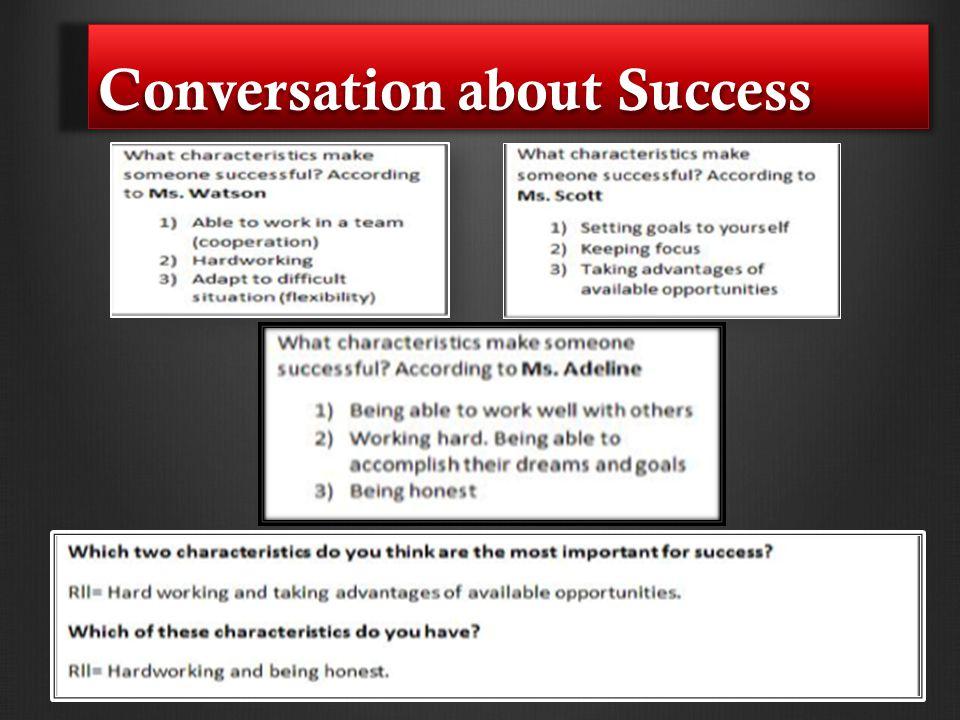 Conversation about Success