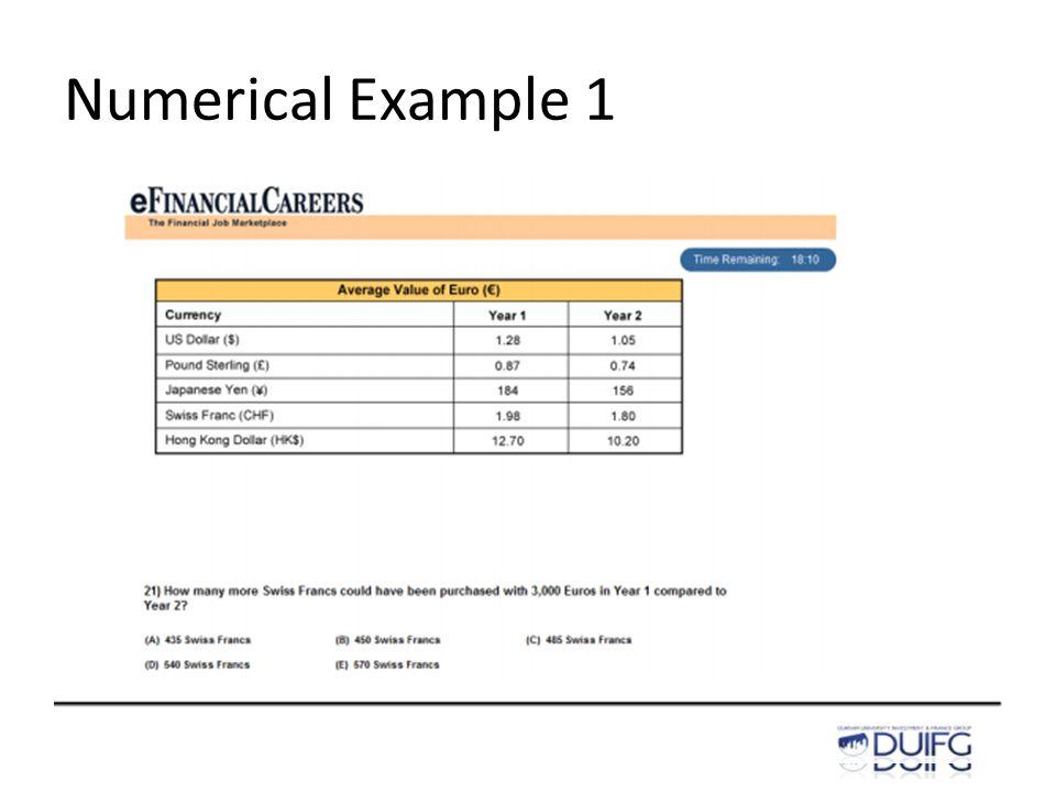 Numerical Example 1