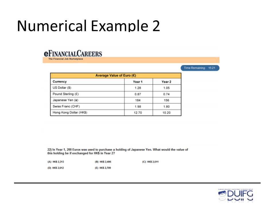 Numerical Example 2