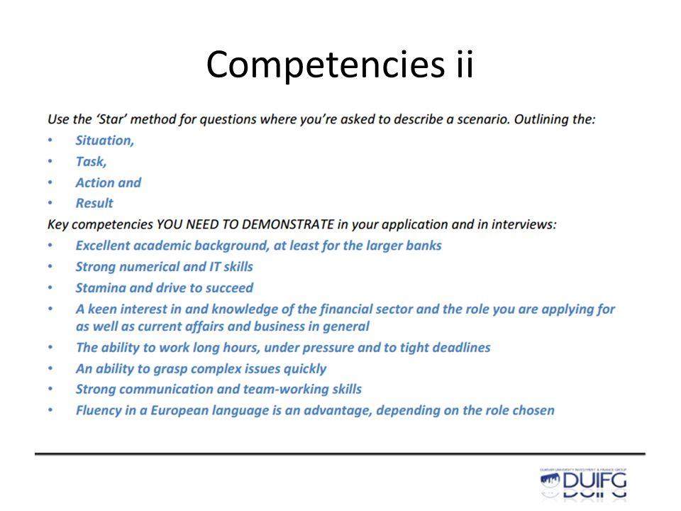 Competencies ii