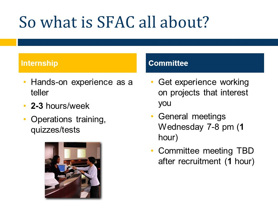 So what is SFAC all about.